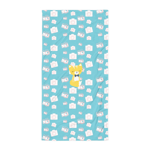 Towel_Say Cheese Smarty Pants Blue