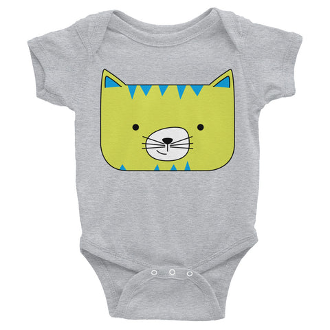 Infant Bodysuit_Scribbles Cool Cat Pink