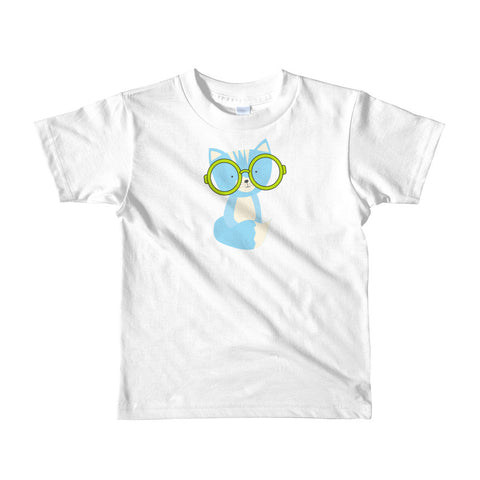 Kids T-Shirt_Polka Dottie Smarty Pants Blue