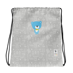 Drawstring Bag_Baking Bear Grey