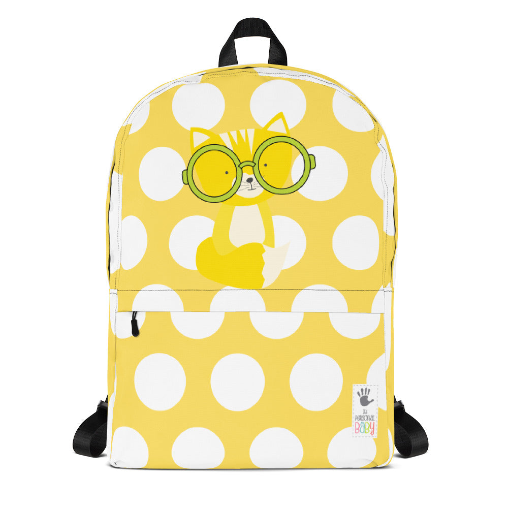 Backpack_Polka Dottie Smarty Pants Yellow