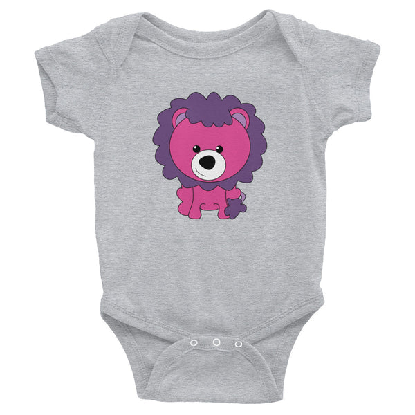 Infant Bodysuit_Scribbles Lion Lion Purple