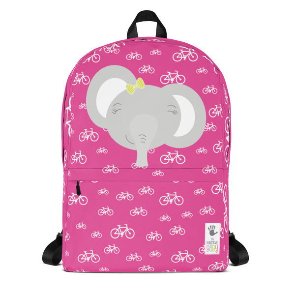 Backpack_My Bike Elephant Pink