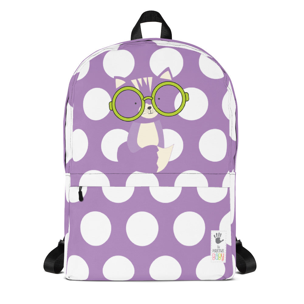 Backpack_Polka Dottie Smarty Pants Purple