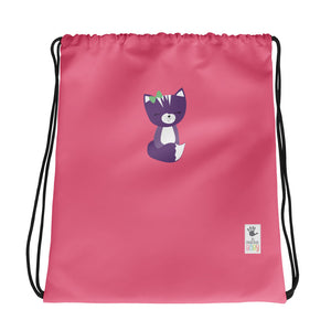 Drawstring Bag_Solid Pink Smarty Pants