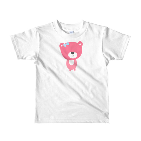 Kids T-Shirt_Baking Bear Green Pink
