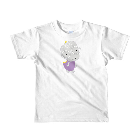 Kids T-Shirt_Polka Dottie Whinno Dino Yellow