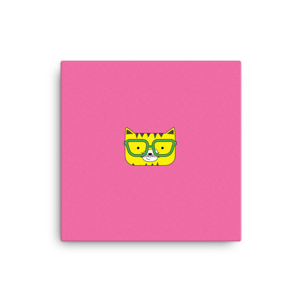 Canvas_Solid Pink Cool Cat