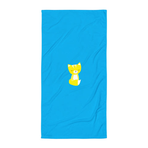 Towel_Solid Blue Smarty Pants