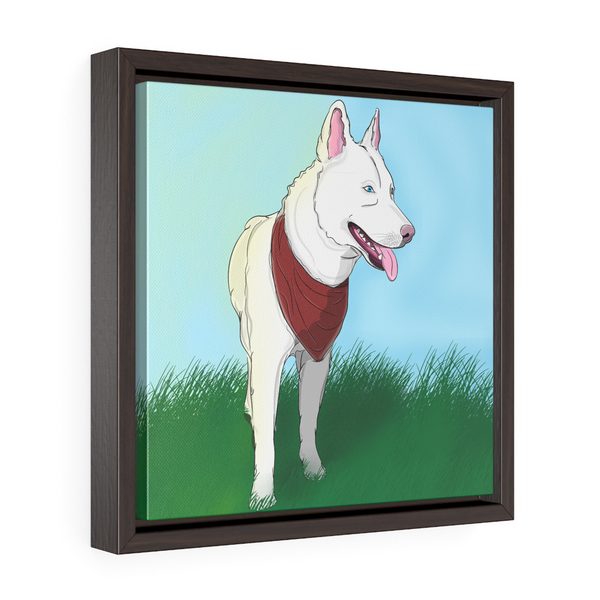 custom framed canvas dogependent
