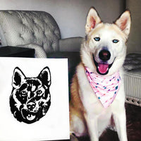 custom decal of you dog's face dogependent