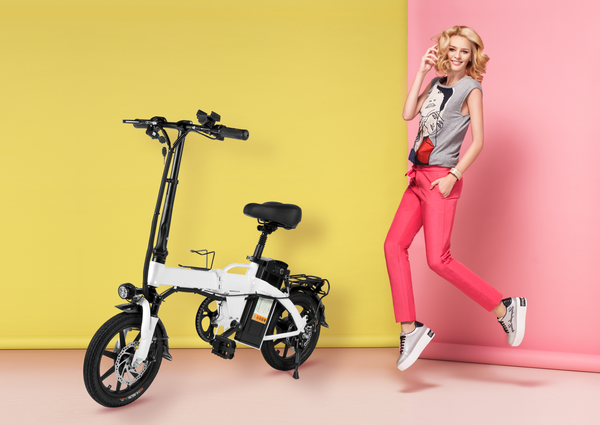 "Hey SHORTEE - Mini Folding Ebike 14"" IN STOCK"