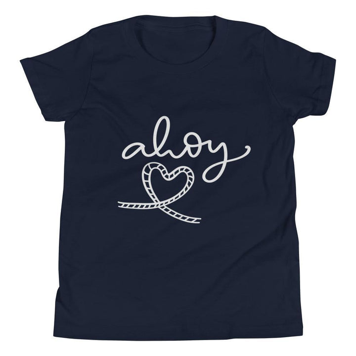 Ahoy Youth Short Sleeve (2 Colours) - Ahoy Rope Rope Knots Short Sleeves Youth Shirt - Fashion Accessories
