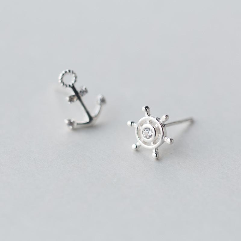 Anchor + Wheel Studs - Accessories Anchor Collection Anchors Coastal Lifestyle Earrings