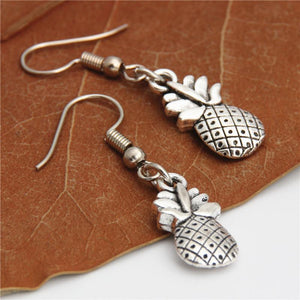 Antique Silver Pineapple Drop Earrings - Earrings Jewellery - Accessories