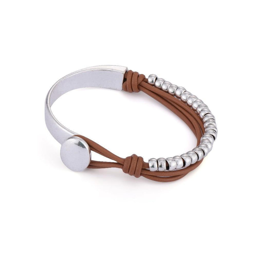 Beach Pebbles Leather Bracelet - Accessories Bracelet Bracelets Coastal Lifestyle Jewellery - Accessories