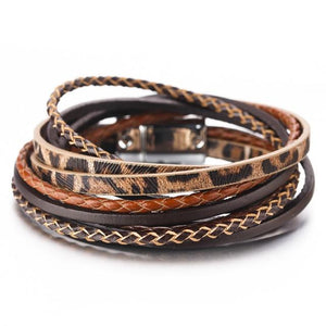 Braided Leather Wrap Bracelet (5 Colours) - Accessories Bracelets Fall - Fashion Accessories
