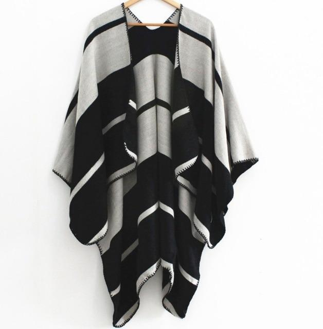 Chilly Days Blanket Shawl - Fall Scarves - Accessories