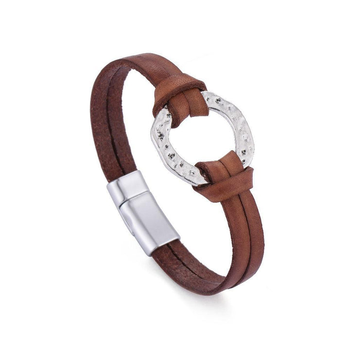 Circle in the Sand Leather Bracelet - Accessories Bracelet Bracelets Jewellery Leather - Accessories