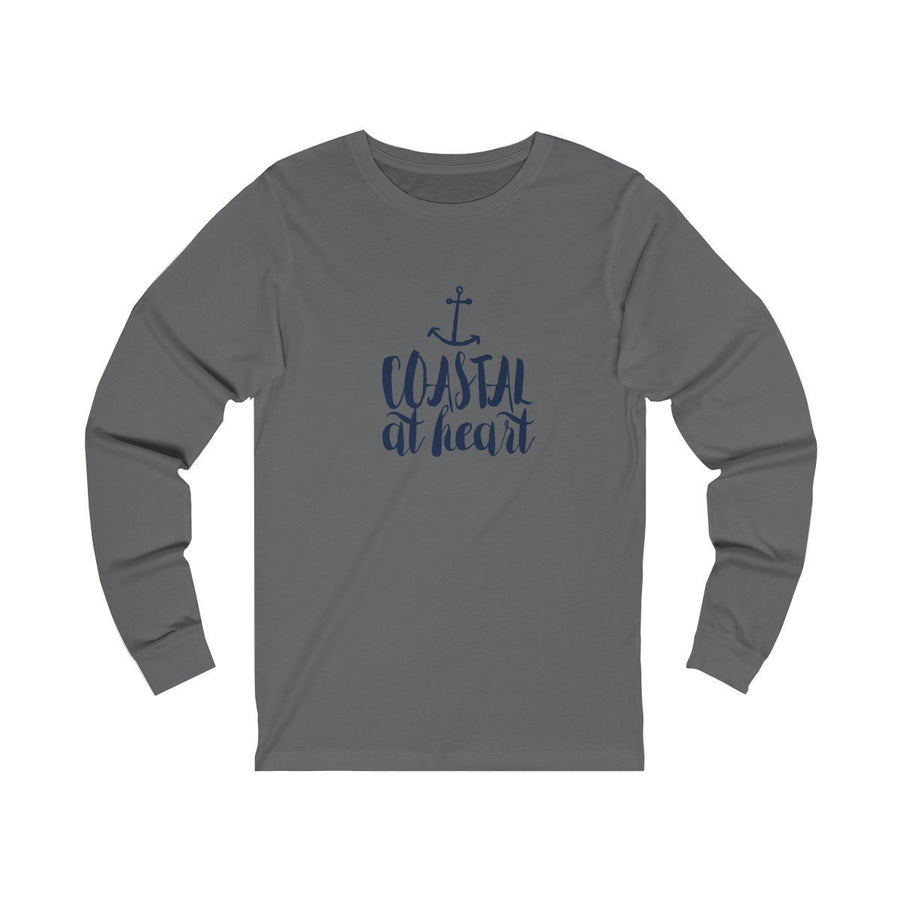 Coastal at Heart Unisex Long Sleeve (3 Colours) - Coastal Lifestyle Fall Long Sleeves Mens Clothing Regular fit - Long-sleeve