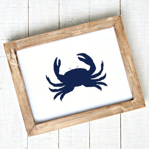 Crab in Navy - Modern Illustration - Printable Art - Downloadable,Modern - Art