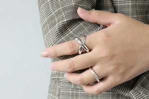 Cross My Heart Silver Ring - Accessories Coastal Lifestyle Fall Jewellery Rings - Accessories