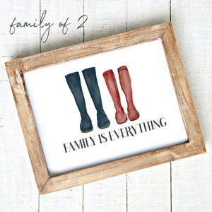 Family is everything - Downloadable Art Print - Rainboots