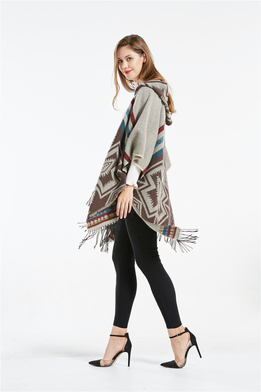 Fireside Hooded Blanket Poncho - Fall Scarves - Accessories