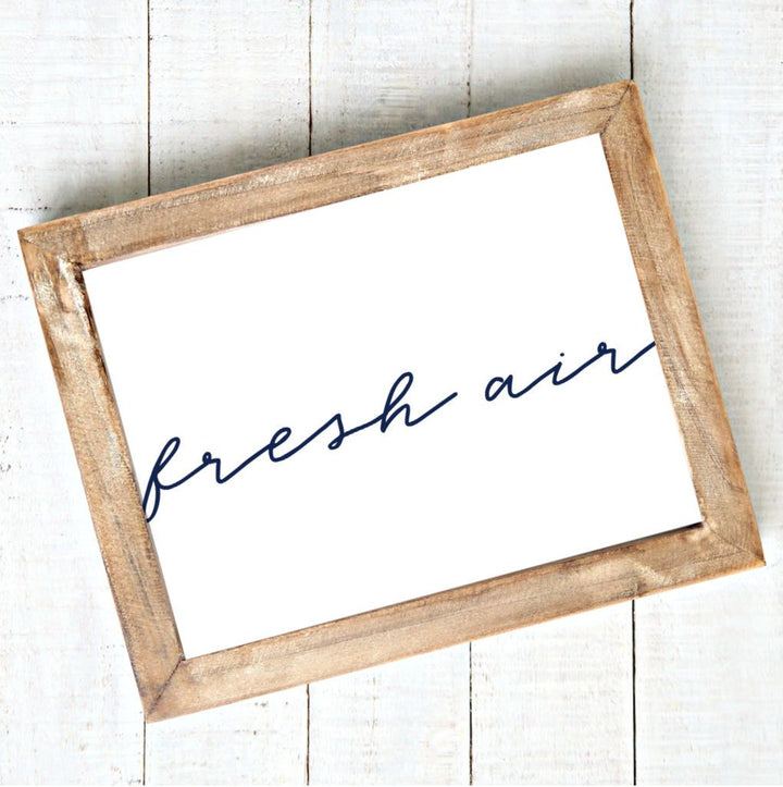 Fresh Air - Modern Script - Printable Art - Downloadable,Modern - Art