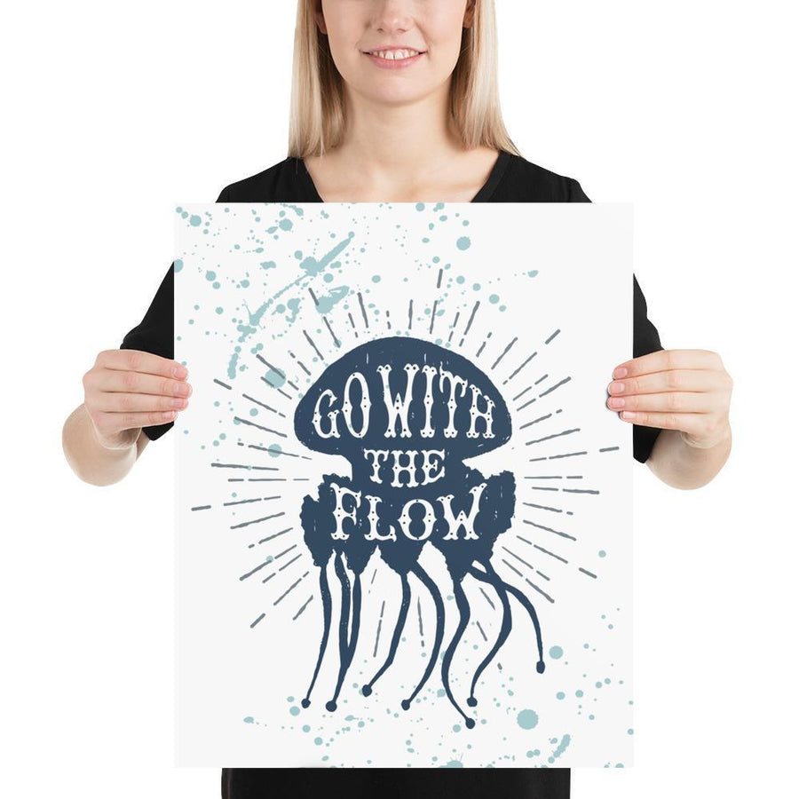 Go with the Flow (Nautical Sea Salt Series) - Navy - Home Decor