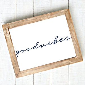 Good Vibes Printable Wall Art