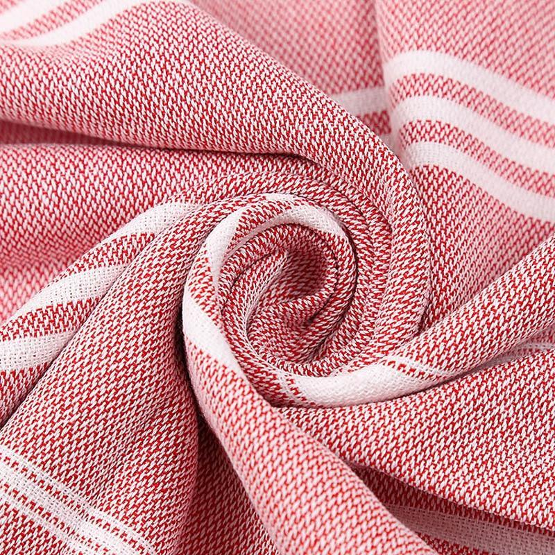 Grain Sack Striped Turkish Towel (3 Colours) - Best Stripes Els PW 9383 Scarves Striped Striped Collection - Accessories