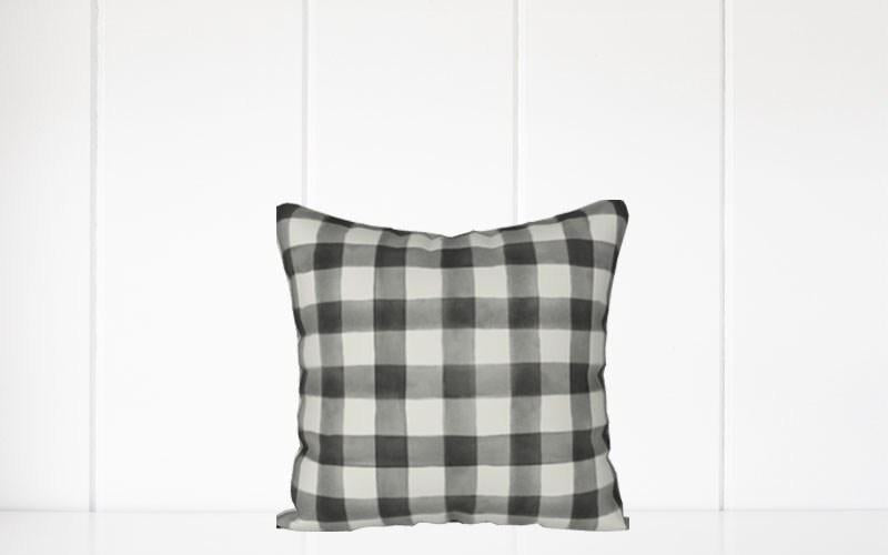 Holiday Pillow - Black and Cream Buffalo Plaid - Els PW 9383 woo_import_1
