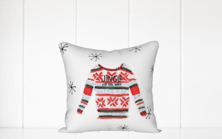 Holiday Pillow - Christmas Sweater Jingle All the Way - Els PW 9383 woo_import_1
