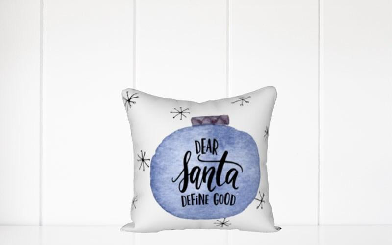 Holiday Pillow-Dear Santa Define Good - Els PW 9383 woo_import_1