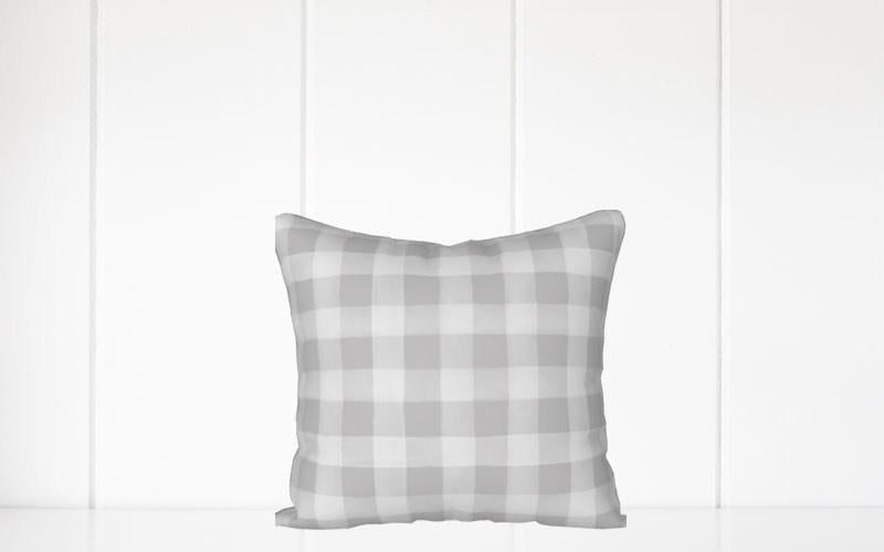 Holiday Pillow - Grey and Cream Buffalo Plaid - Els PW 9383 woo_import_1