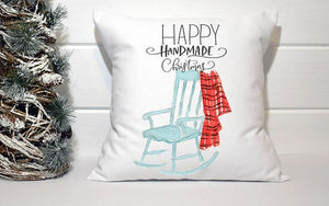 Holiday Pillow - Happy Handmade Christmas Rocking Chair - Els PW 9383 woo_import_1