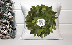 Holiday Pillow - Magnolia Wreath Peace on Earth - Els PW 9383 woo_import_1