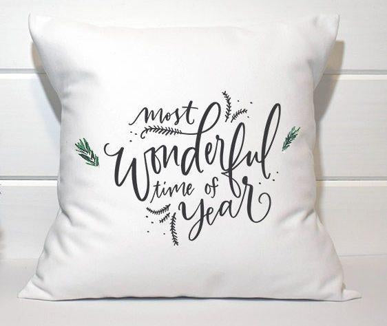 Holiday Pillow - Most Wonderful Time of Year - Els PW 9383 woo_import_1