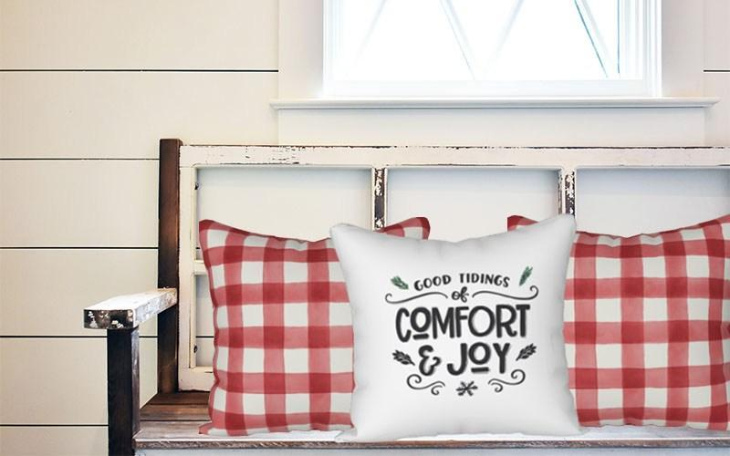 Holiday Pillow - Red and Cream Buffalo Plaid - Els PW 9383 woo_import_1