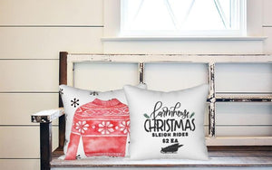 Holiday Pillow - Red Christmas Sweater - Els PW 9383 woo_import_1