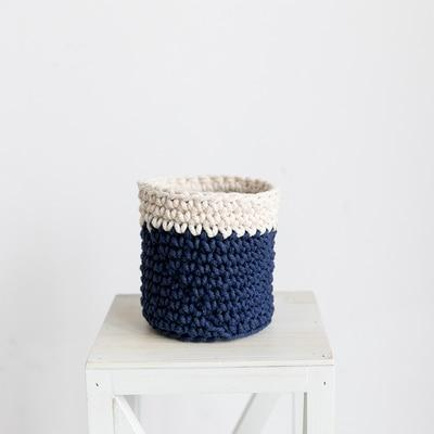 Knitted Mini Storage Containers (4 Colours) - Blue Els PW 9383 Gray Green Navy - Home Decor