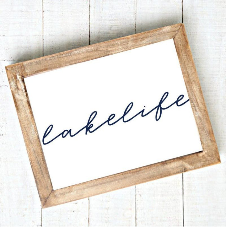Lake Life Art Printable Instant Download