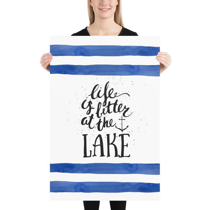 Life is Better at the Lake (Life is Better Series) - Blue Cabin Cottage Els PW 9383 Lake - Home Decor