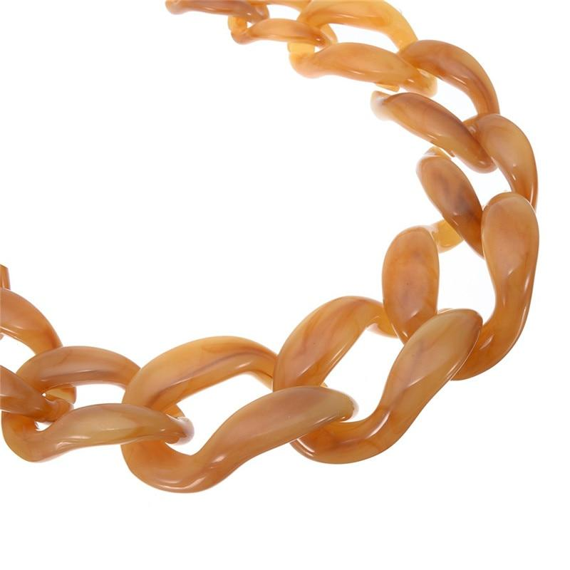 Linked Up Tortoiseshell Statement Necklace - Accessories Fall Necklace - Fashion Accessories