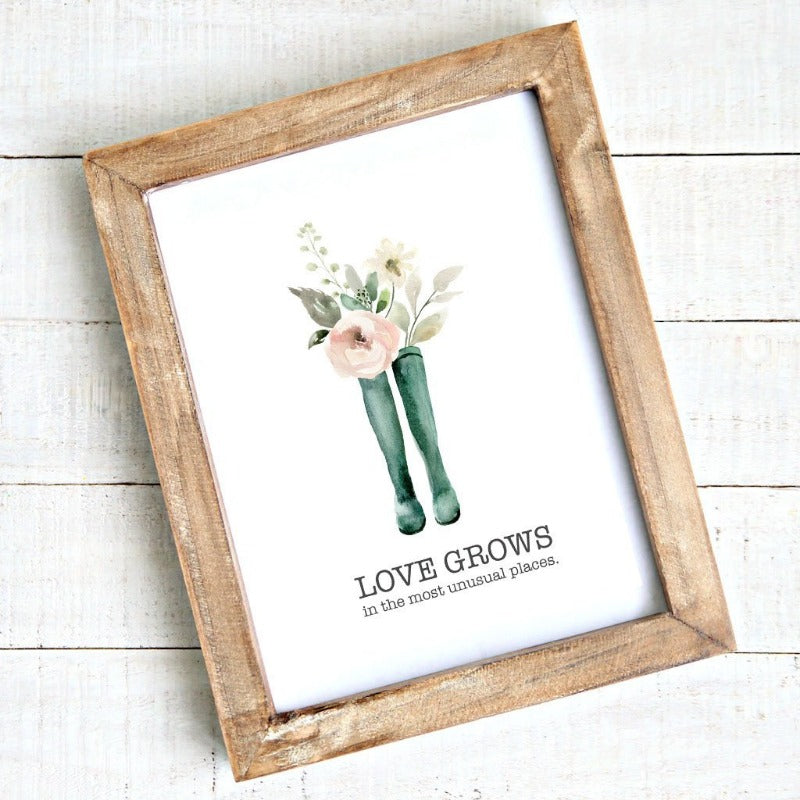 Printable art - Love grows in unusual places