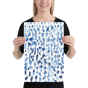 Modern Raindrops (Abstract Watercolour Series) - Abstract Abstract Watercolour Series Blue Watercolour - Home Decor