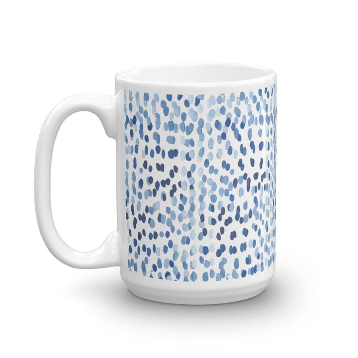 Modern Raindrops: Mug (Blue Watercolour Mug Series) - Blue Modern Mug Watercolour - Home & Garden