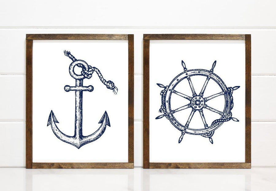 Modern Sketched Anchor - Printable Art - Downloadable - Art