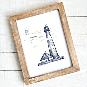 coastal artwork lighthouse printable